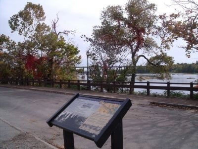 Belle Isle Marker on the north bank of the James River. image. Click for full size.