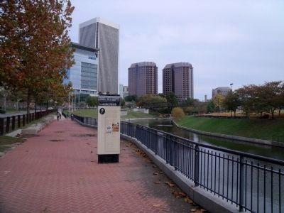 Federal Reserve Bank above the Haxall Canal. image. Click for full size.