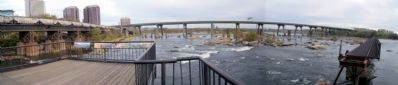 View from the James River overlook on Brown's Island. Photo, Click for full size