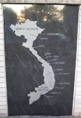 Phoenixville War Memorial Vietnam Map image. Click for full size.