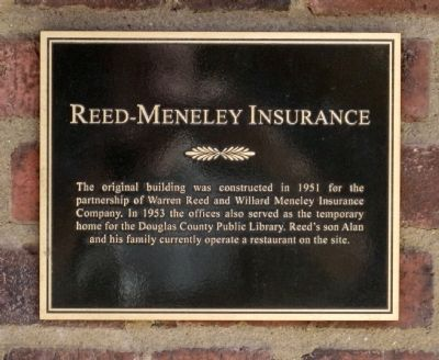 Reed-Meneley Insurance Marker image. Click for full size.