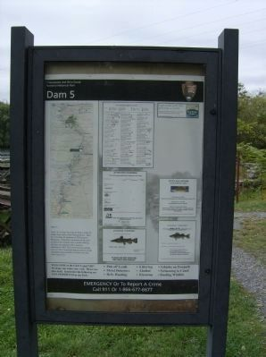 NPS information panel at Dam 5 site Photo, Click for full size