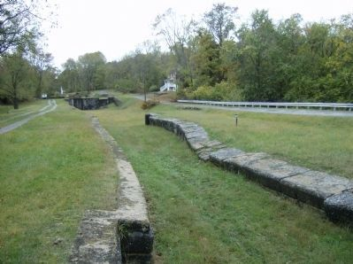 A close-up view of Lock #48, looking west toward Lock #49 Photo, Click for full size