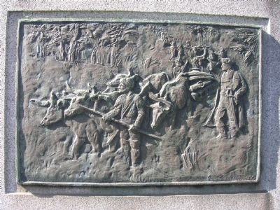 Gen. Henry Knox Trail Marker Detail Photo, Click for full size
