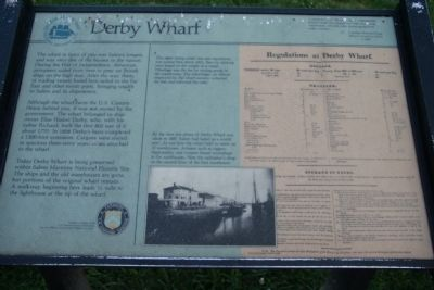 Derby Wharf Marker image. Click for full size.