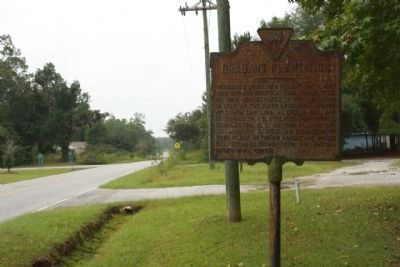 Brabant Plantation Marker, looking southbound along State Road 8-98 image. Click for full size.