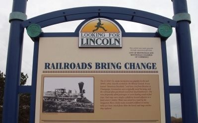 Top Section - - Railroads Bring Change Marker image. Click for full size.