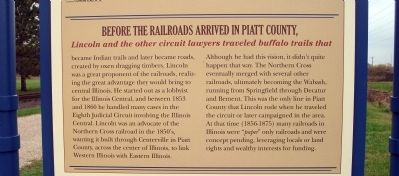 Middle Section - - Railroads Bring Change Marker image. Click for full size.