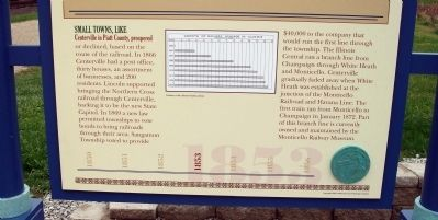 Lower Section - - Railroads Bring Change Marker image. Click for full size.