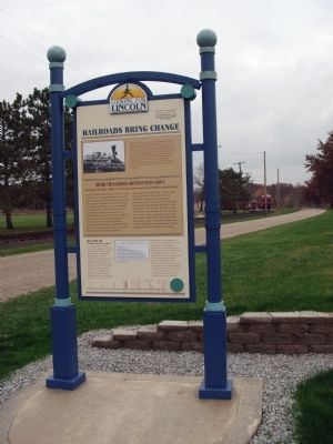 Full View - - Railroads Bring Change Marker image. Click for full size.
