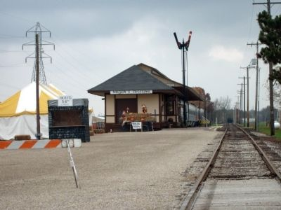 "Closer View of ""Nelson's Crossing"" Depot image. Click for full size."