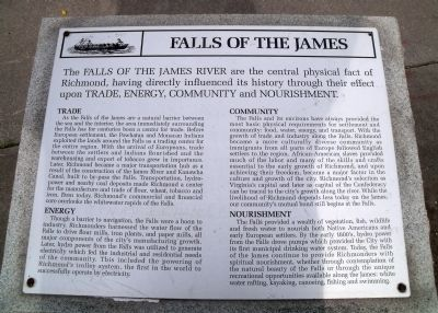 Falls of the James Marker image. Click for full size.