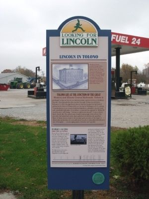 Full View - - Lincoln in Tolono Marker image. Click for full size.