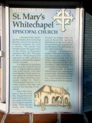 St. Mary�s Whitechapel Marker, Face A Photo, Click for full size