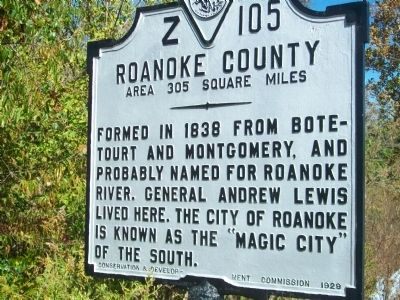 Roanoke County Face image. Click for full size.