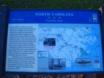 North Carolina Civil War Trails Marker image. Click for full size.