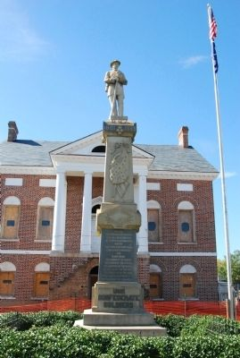 Lancaster County Confederate Monument Marker Photo, Click for full size