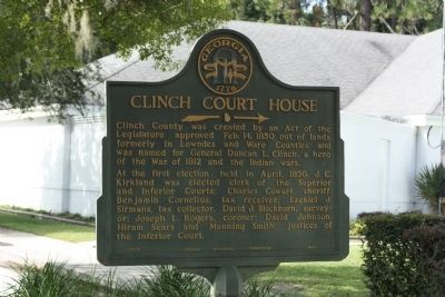 Clinch Court House Marker Photo, Click for full size
