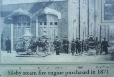 Steam Fire Engine Photo on Marker image. Click for full size.