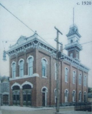 Firehouse Photo on Marker, Before Renovation image. Click for full size.