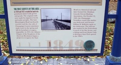 Bottom Section - - On The Bloomington Road / Marker - Side image. Click for full size.
