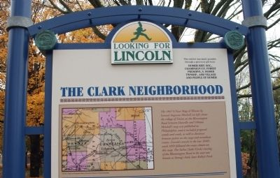 Top Section - - The Clark Neighborhood / Marker - Side image. Click for full size.