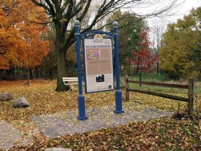 Wide View - - The Clark Neighborhood / Marker - Side image. Click for full size.