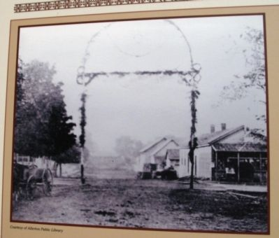 Close-up Photo - - Tenbrook (Tavern) Hotel - Right side of Photo image. Click for full size.