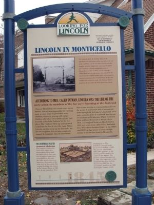 Full View - - Lincoln in Monticello Marker image. Click for full size.