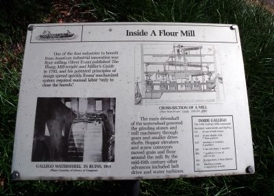 Inside A Flour Mill Marker image. Click for full size.