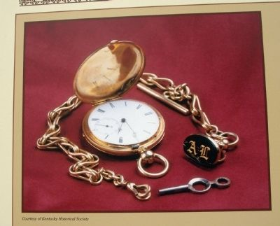 Close-up Photo - - Abraham Lincoln's Pocket Watch image. Click for full size.