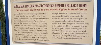 Middle Section - - The Bement Connection Marker image. Click for full size.