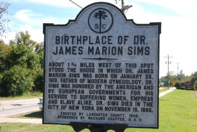 Birthplace of Dr. James Marion Sims Marker image. Click for full size.