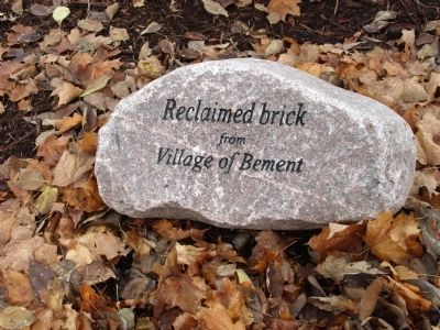 Marker Brick Walk-way - - Reclaimed Brick - Village of Bement image. Click for full size.