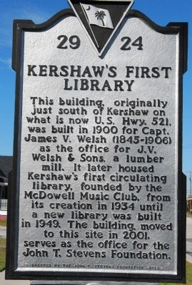 Kershaw's First Library Marker image. Click for full size.