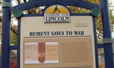 Top Section - - Bement Goes to War Marker image. Click for full size.