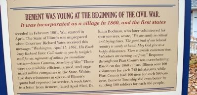 Middle Section - - Bement Goes to War Marker Photo, Click for full size