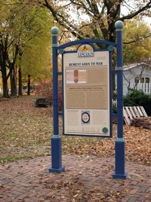 Full View - - Bement Goes to War Marker image. Click for full size.