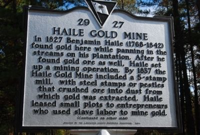 Haile Gold Mine Marker Photo, Click for full size