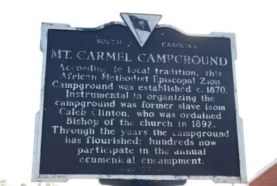 Mt. Carmel Campground Marker image. Click for full size.