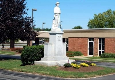 Cherokee County Confederate Monument<br>South Corner Photo, Click for full size