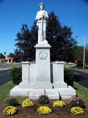 Cherokee County Confederate Monument -<br>North Side Photo, Click for full size