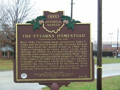 Stearns Homestead Marker image. Click for full size.