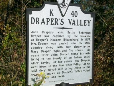Draper's Valley Marker image. Click for full size.