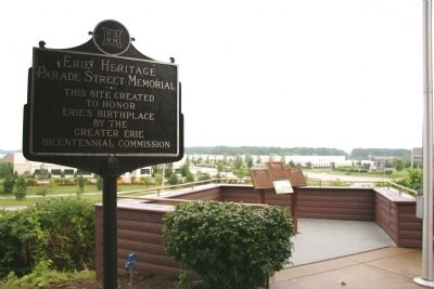Erie Heritage Marker image. Click for full size.