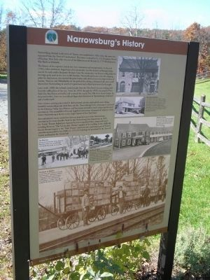 Narrowsburg's History Marker image. Click for full size.