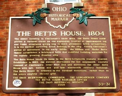 The Betts House Marker image. Click for full size.