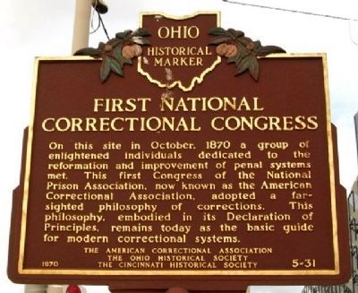 First National Correctional Congress Marker (Side A) image. Click for full size.