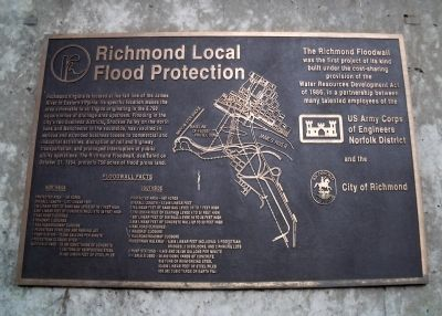 Richmond Local Flood Protection Marker image. Click for full size.