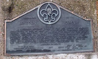 Beginning of the Lincoln Circuit Trail Marker image. Click for full size.